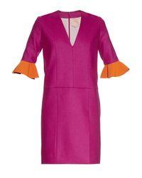ROKSANDA Pink Calcet Contrast-cuff Dress