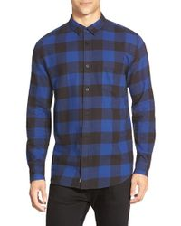 Cheap Monday | Black 'neo' Check Flannel Shirt for Men | Lyst