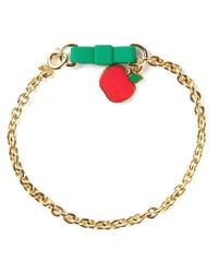 Marc By Marc Jacobs Metallic 'Bow Tie With Apple' Bracelet