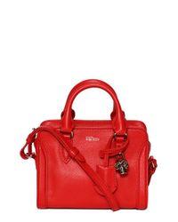Alexander McQueen - Pink 'mini Padlock' Calfskin Leather Duffel Bag - Lyst