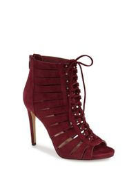 Vince Camuto - Red 'fionna' Lace-up Sandal - Lyst