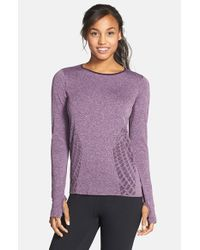 New Balance | Purple 'made For Movement' Seamless Long Sleeve | Lyst