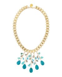 Devon Leigh | Blue Multi-drop Chain Necklace | Lyst