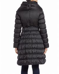 Laundry by Shelli Segal | Black Belted Puffer Coat | Lyst