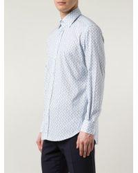 Etro - Blue Printed Shirt for Men - Lyst