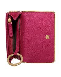 Michael Kors - Jetset Travel Specchio Pink Small Flapover Purse - Lyst