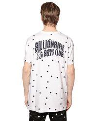Billionaire Boys Club - Ice Cream White Polka Dot Printed Cotton T-shirt for men
