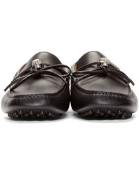 Alexander McQueen - Black Leather Skull Driver Loafers for Men - Lyst