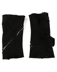 Incarnation Black Asymmetric Gloves for men
