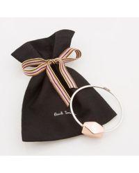Paul Smith Metallic Women's Silver Bracelet With Copper Facet Bead