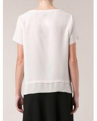 Vince White Layered T-shirt