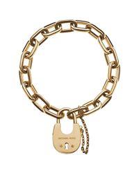 Michael Kors Metallic Padlock Toggle Bracelet