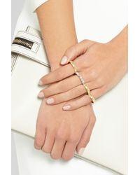 Ana Khouri Metallic Isabel 18-karat Gold Diamond Four-finger Ring