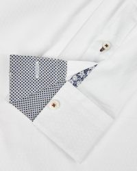 Ted Baker - White Diamond Dobby Shirt for Men - Lyst