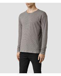 AllSaints - Gray Halam Crew Sweatshirt for Men - Lyst