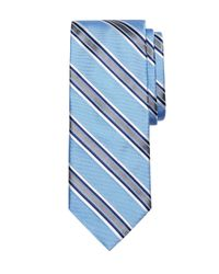 Brooks Brothers | Blue Satin Framed Stripe Tie for Men | Lyst