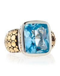 John Hardy | Blue Topaz Radiant Ring | Lyst
