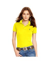 Polo Ralph Lauren | Yellow Skinny-fit Polo Shirt | Lyst