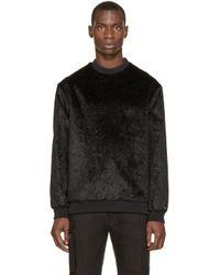 Wanda Nylon - Black Faux-fur Alan Sweater for Men - Lyst