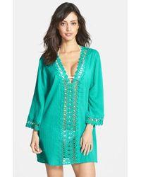 La Blanca | Green Crochet Trim Cover-up | Lyst