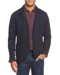 Apolis | Blue Knit Cardigan Blazer for Men | Lyst