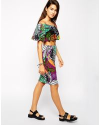 AX Paris - Multicolor Co-ord Set In Tropical Print - Lyst