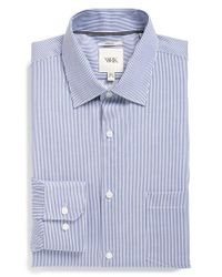 W.r.k. | Blue Extra Trim Fit Stretch Stripe Dress Shirt for Men | Lyst