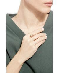 Bochic Pink Yellow Gold Ball Double Ring