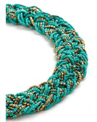 Zad Fashion Inc.   Blue Glitz Mob Necklace In Turquoise   Lyst