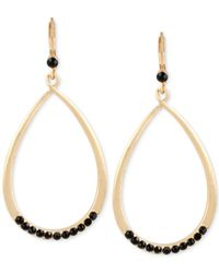 Kenneth Cole | Metallic Gold-tone Faceted Stone Teardrop Earrings | Lyst