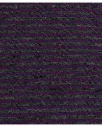 Paul Smith | Purple Melange Striped Cotton T-shirt for Men | Lyst