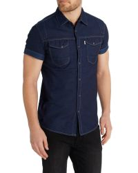 883 Police | Blue Oblivion Shirt for Men | Lyst