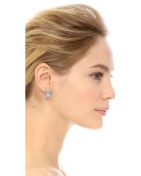 Alexis Bittar Metallic Jagged Marquis Cluster Ear Jackets - Clear/silver