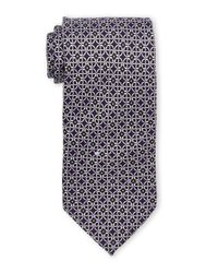 Pierre Cardin - Black Circular Link Silk Tie for Men - Lyst