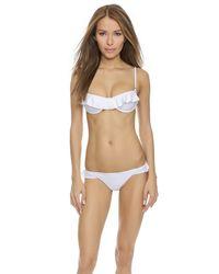 Tori Praver Swimwear | White Cabazon Bottoms - Lime | Lyst