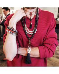 Lulu Frost - Multicolor Herringbone Woven Bracelet Redblk - Lyst