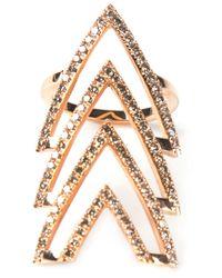 Elise Dray Pink Triple Arrow Ring