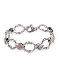 Effy | Metallic Balissima Sterling Silver, Diamond And 18k Yellow Gold Bracelet | Lyst