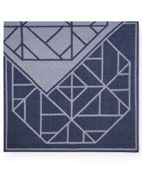 Tory Burch | Blue Fret Jacquard Blanket Scarf | Lyst
