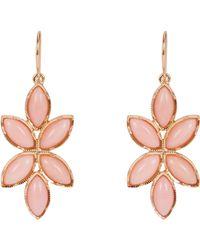 Irene Neuwirth Pink Floral Drop Earrings