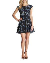 Cece by Cynthia Steffe | Black Butterfly Dropped-waist Dress | Lyst