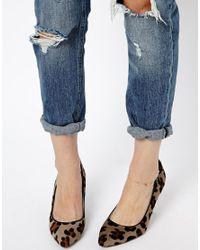 ASOS - Metallic Limited Edition Semi Precious Anklet - Lyst