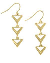 Sam Edelman - Metallic Le Jardin Linear Earrings - Lyst