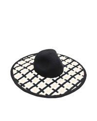 Eugenia Kim Black Jodi Pierced Sun Hat