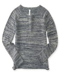 Aéropostale | Gray Marled Crew-neck Sweater | Lyst