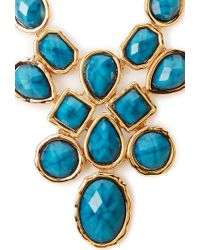 Forever 21 - Blue Opulent Faux Gemstone Necklace - Lyst