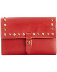 Patricia Nash - Red Colli Flap Studded Wallet - Lyst
