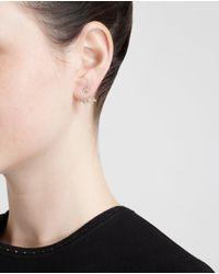 Yvonne Léon | Metallic 18K Gold And Diamond Lobe Earring | Lyst
