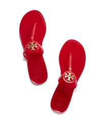 Tory Burch - Red Mini Miller Jelly Thong Sandal - Lyst