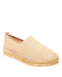 Steve Madden Natural Perforated Faux Leather Slip-on Sneakers